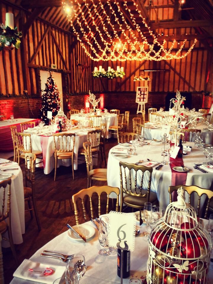 Wedding lights. A lovely shot of our fairy light canopy at the barn at Lillibrooke Manor, sent to us by the bride!