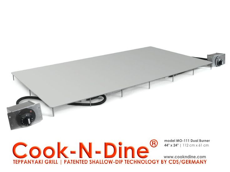 Teppanyaki grill flat plancha cook top, built in, drop in Hibachi grill. 1800W-120V or energy efficient ProStyle 2250W-230V.