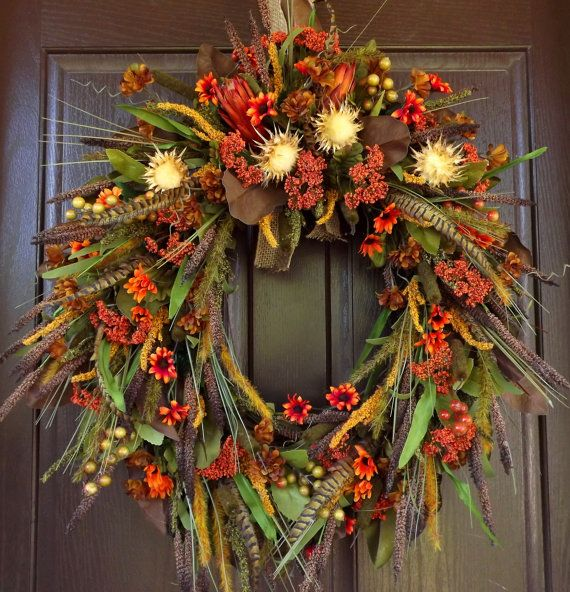 Fall Wreath by WreathArtistry on Etsy,