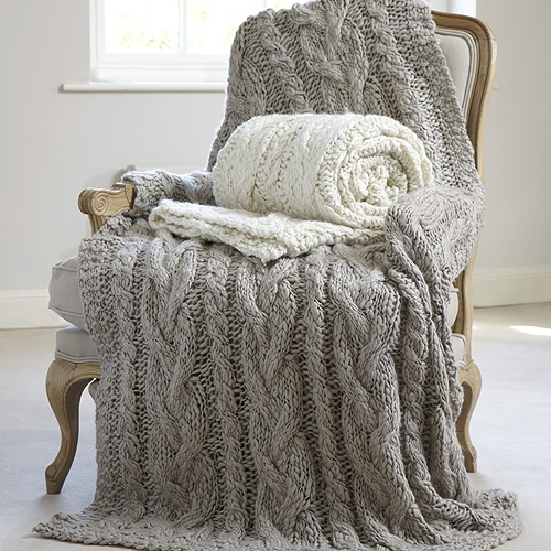 Walton & Co - we'd like to snuggle up in these thick-knit throws