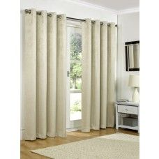 66x108in (168x274cm) Natural Cream Blackout Eyelet Curtains