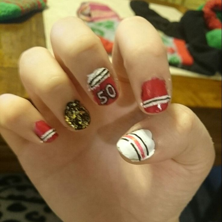 Nails for the game tonight :) go hawks!