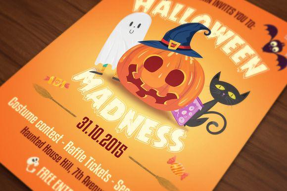 Halloween Flyer Cards Illustrations by UXburn on Creative Market
