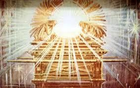 Exodus 37:7 And he made two cherubims of gold, beaten out of one piece made he them, on the two ends of the mercy seat;     8 One cherub on the end on this side, and another cherub on the other end on that side: out of the mercy seat made he the cherubims on the two ends thereof.