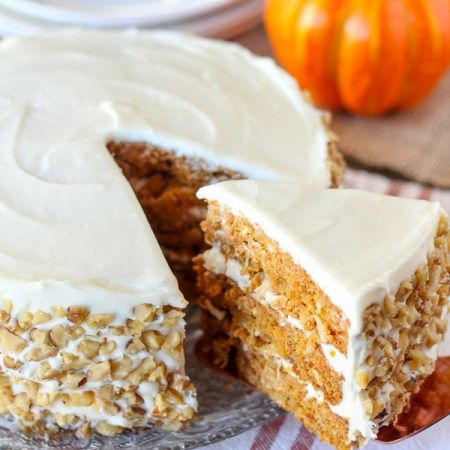 Pumpkin Carrot Cake with Cream Cheese Frosting - A moist layer cake ...