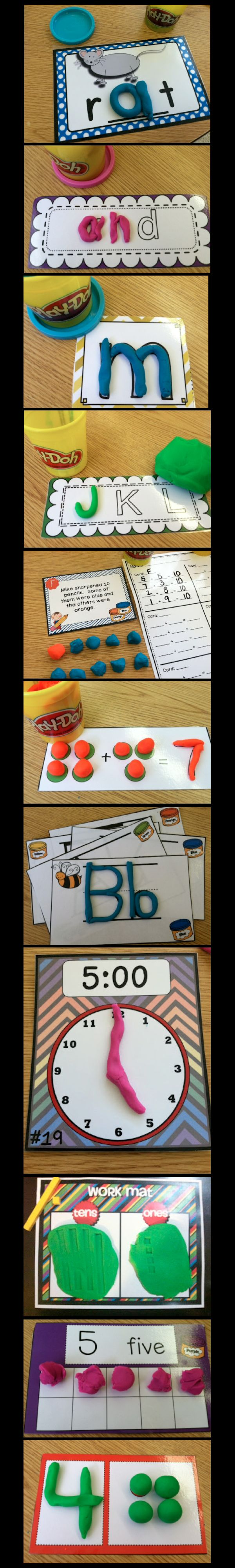 Great Ideas on Using Play-doh in the classroom.... keep learning fun! Primary Possibilities. This is a great way to teach number, time, and many other concepts. It helps the students be hand on with learning. However, the play doe could get messy.