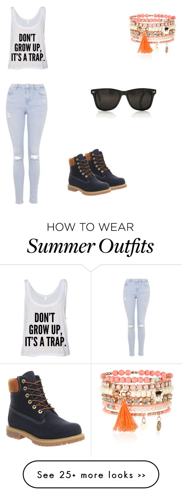 """""""Outfit 018"""" by tayla-abrahams on Polyvore featuring Topshop, Timberland and Accessorize"""