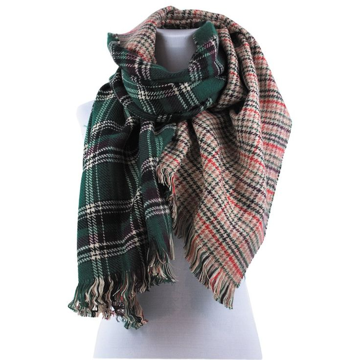WINTER  SCARF NEW COLLECTION GREEN ACCESSORIES FALL WHOLESALE