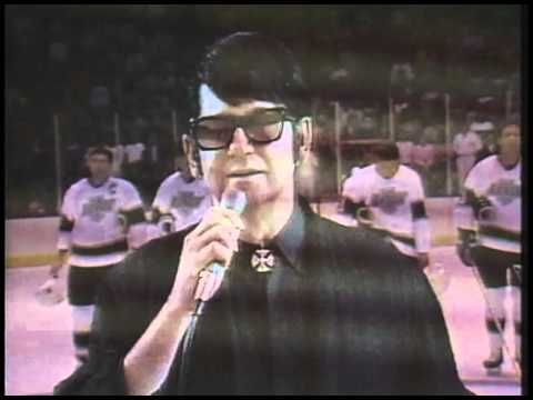 """Roy Orbison sings """"The Star Spangled Banner"""" at the LA Kings Game - Oct 6, 1988"""
