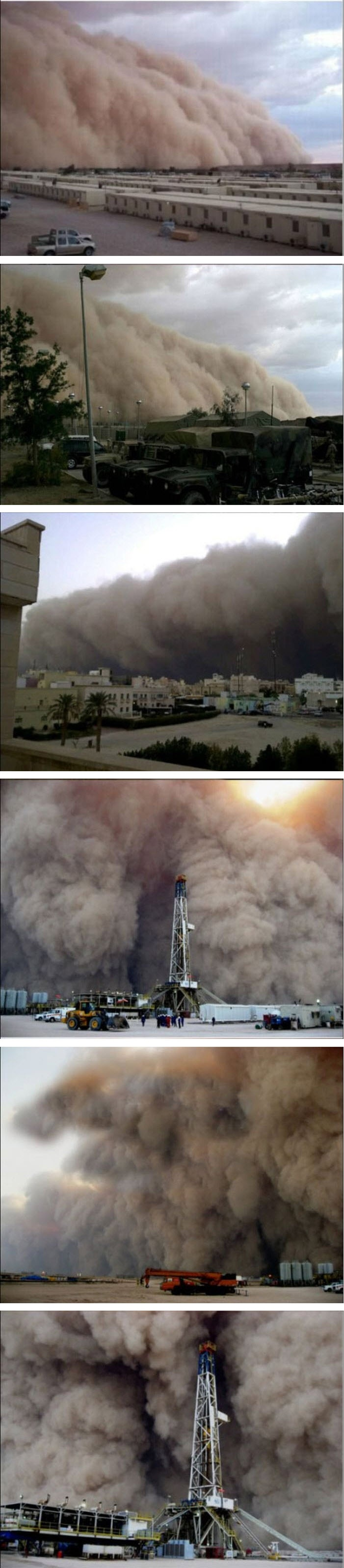 Giant dust storm in Kuwait