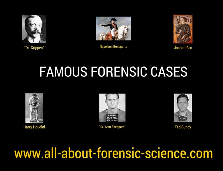 famous case studies in forensic science Forensic science is the application of science to criminal certain sections have developed over time to encompass the majority of forensically related cases forensic science is the combination of two forensic geomorphology is the study of the ground surface to look for.