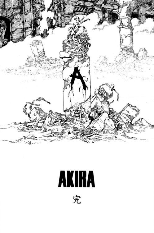 Akira , the classic graphic novel / manga / comic series by Katsuhiro Otomo .