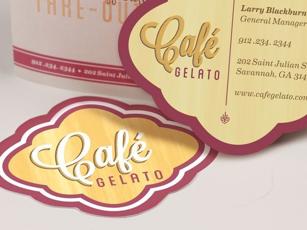 Cafe Gelato Branding and Identity