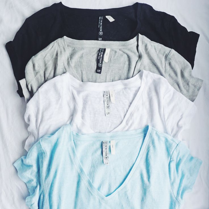 Our favorite kind of neutral flat lay. Fall in love with our range of V Neck Linen T Shirts || Cotton On || 2016 || Summer Fashion