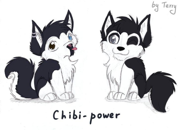 Chibi Huskies By Iguana In Darkness Chibi Art Artist