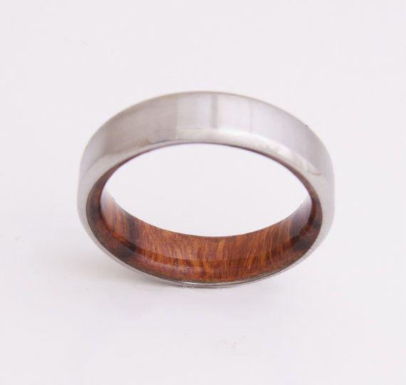Bois de fer et de titane / / anneaux de bois par dimaltagioielli