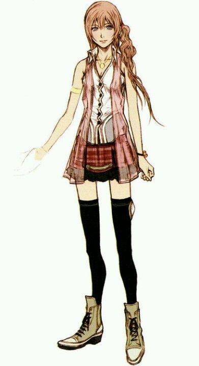 Lovely Serah Farron artwork by Tetsuya Nomura.
