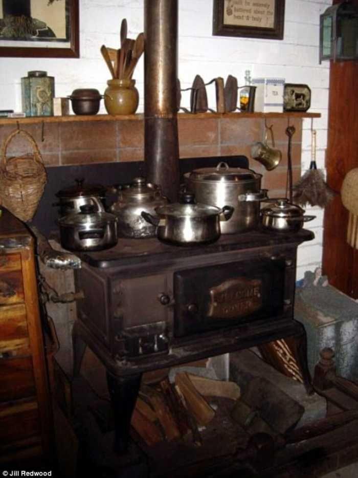 Jill Redwood estufa y cocina