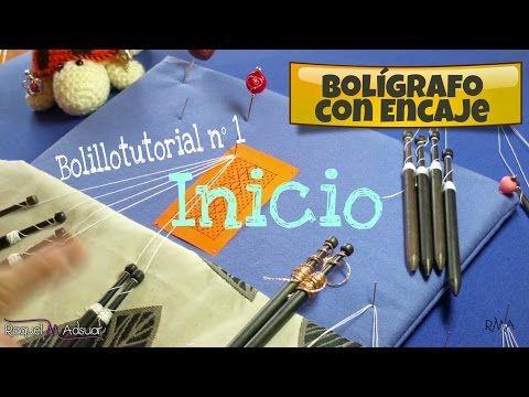 Bolígrafo con Encaje - Bolillotutorial 1 Inicio en Recto . Raquel M. Adsuar - YouTube