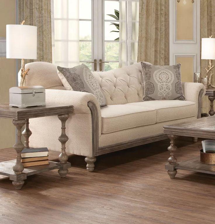 Country modern farmhouse home decor sofa paring
