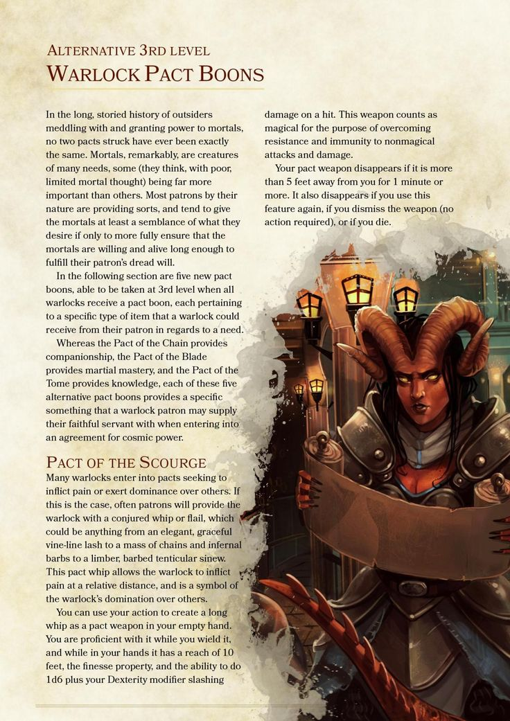 Alternative Warlock Pact Boons And Invocations By The_singular_anyone