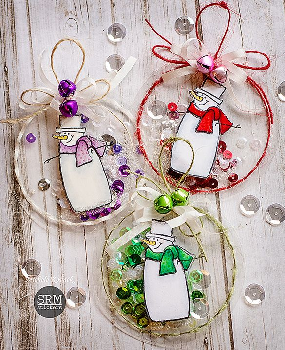 Shaker Christmas Ornaments! #Janesdoodles #SRM