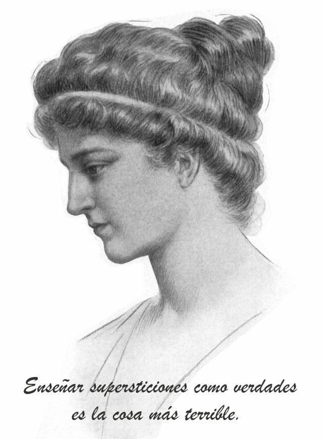 Hipatia, representación idealizada 1908.