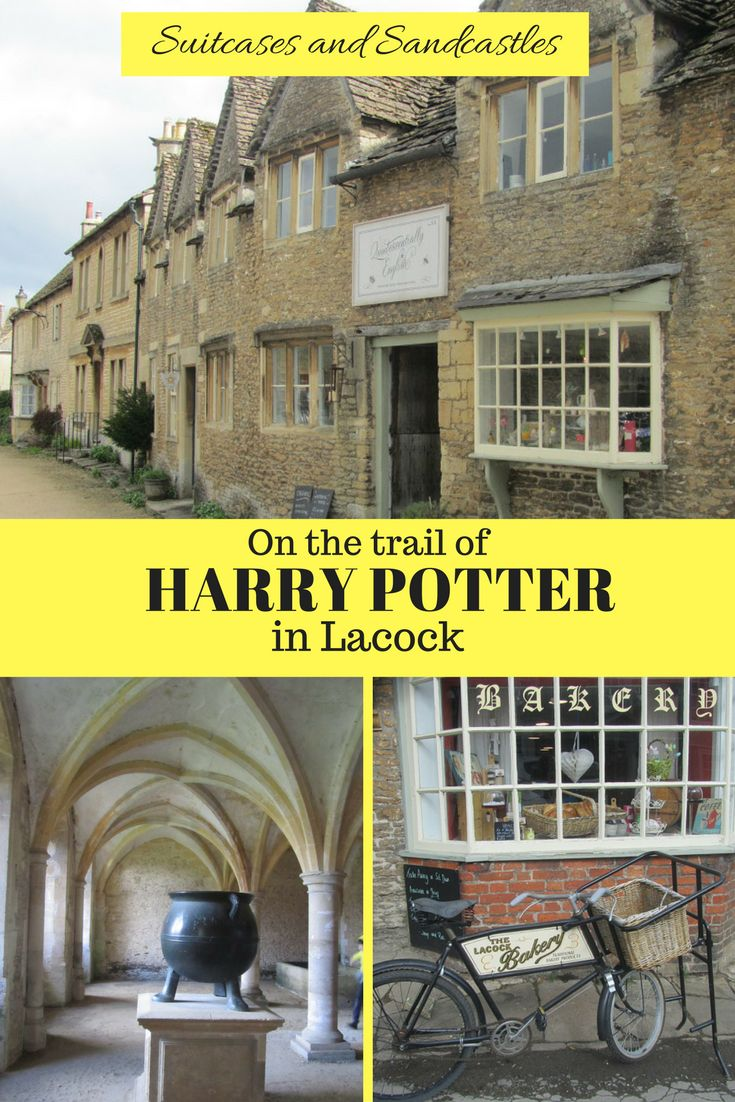 How to find Harry Potter in one of the UK's prettiest villages. The charming village of Lacock in Wiltshire is filled with timber-framed buildings and medieval houses. It's also the location for the Harry Potter films and the latest Fantastic Beasts film. Find out where to find the locations for some of the most famous scenes and explore the cloisters at the abbey, used to stand in for #Hogwarts in the first film. #harrypotterfilmlocations #harrypotter #lacock #prettiestvillageuk