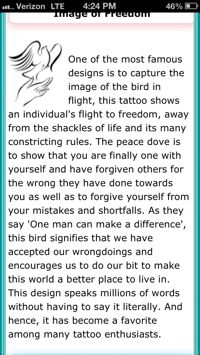 Dove tattoo meaning