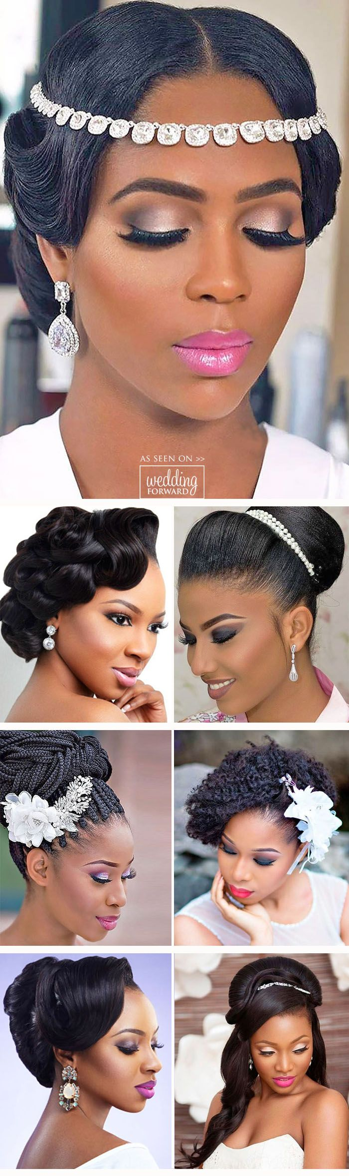 24 Black Women Wedding Hairstyles ❤ It is not a difficult task to pick the suitable black women wedding hairstyles that looks great. See more: http://www.weddingforward.com/black-women-wedding-hairstyles/ #weddings #hairstyles