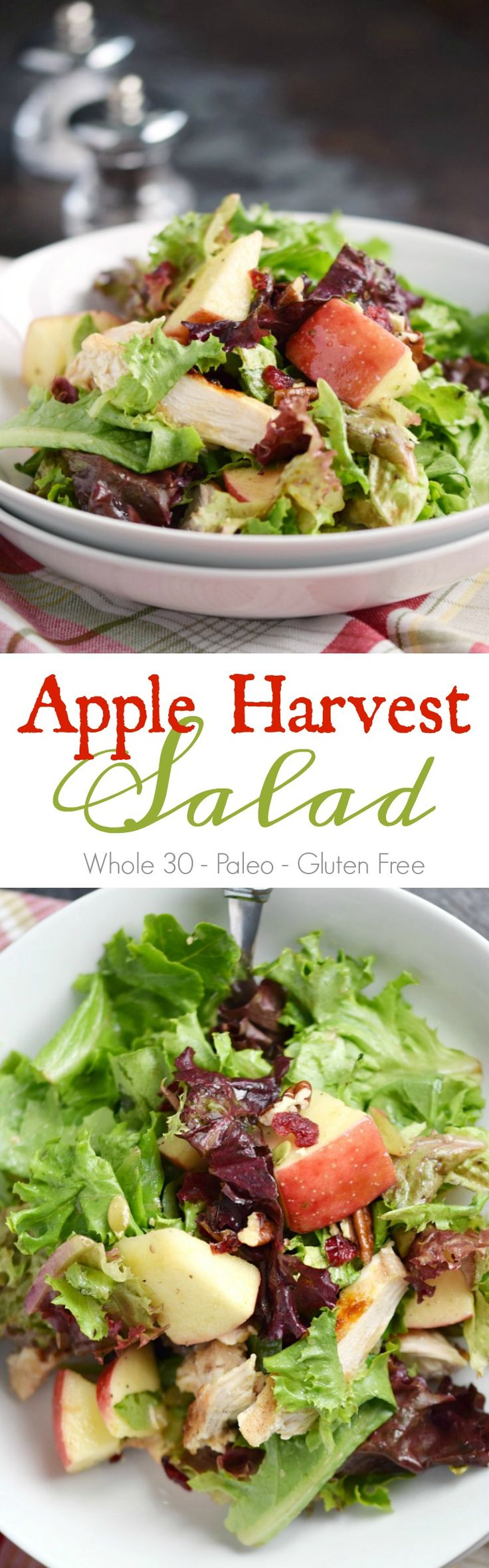 This Apple Harvest Salad is crispy, crunchy, sweet, tart, healthy, and incredibly delicious! COPYRIGHT © 2017 COOKING WITH CURLS #whole30 #paleo #glutenfree