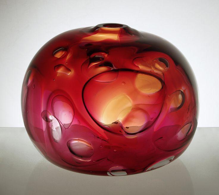 Jirina Zertova, glass vase, 1966, glassworks UUR Škrdlovice, Czechoslovakia