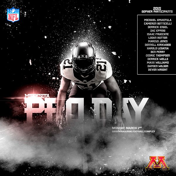 2015 Minnesota Pro Day on Behance