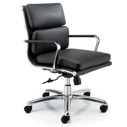 Lexa Leather Soft Pad - An innovative chair that perfectly meets office and work requirements with great seating comfort especially designed for conferences, meetings, executive and front office desks.