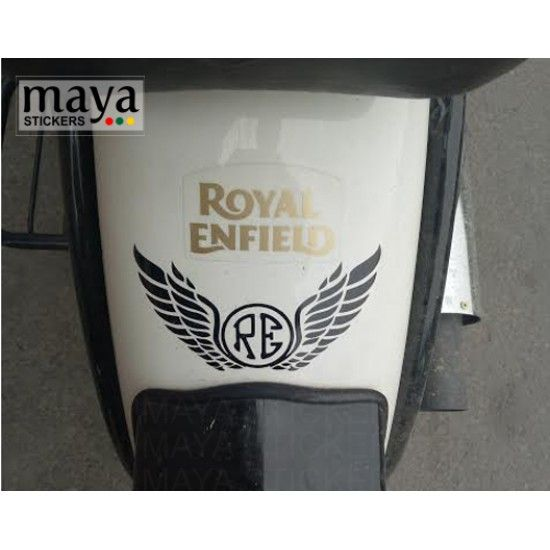 Re And Wings Design Sticker For Royal Enfield D1 Royal Enfield
