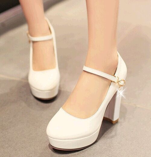 tacones altos zapatos de novia grueso