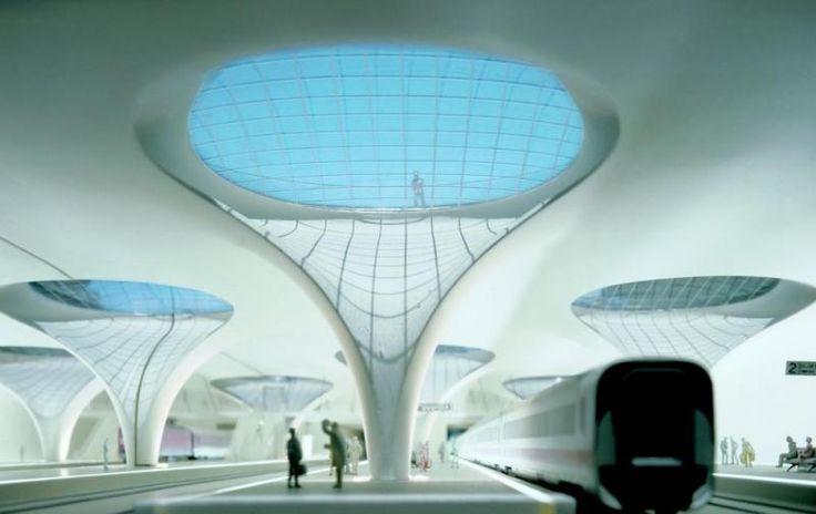 Nové hlavní nádraží Stuttgart   Archicakes