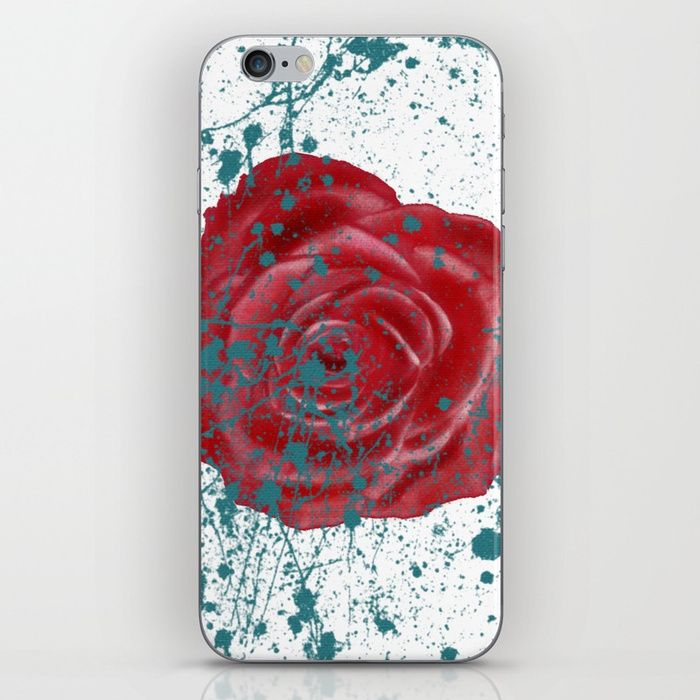 iPhone case with ROSE. Skins are thin, easy-to-remove, vinyl decals for customizing your device. Skins are made from a patented material that eliminates air bubbles and wrinkles for easy application. #rose #roseart #iphone #case