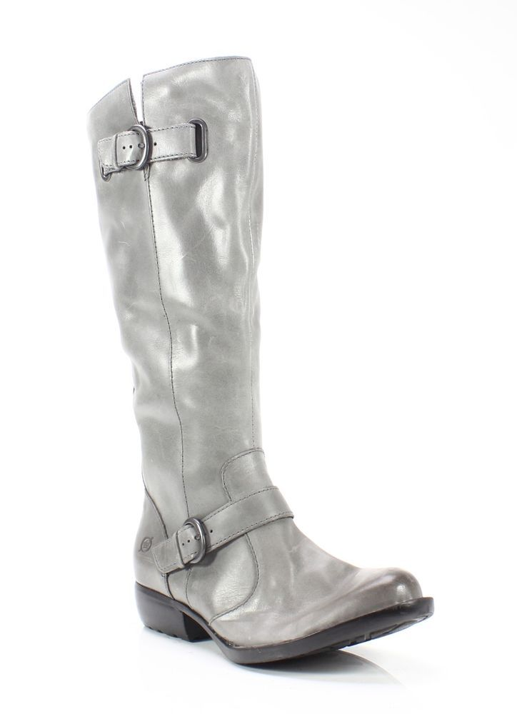 4b69b769c7b Born NEW Gray Women s Size 6M Audry Burnished Leather Knee High Boots  210-   987