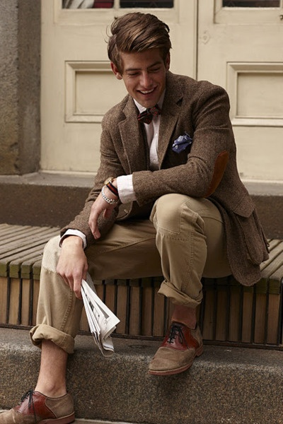 Great from the waist up. Shame about the trousers, socks and shoes.