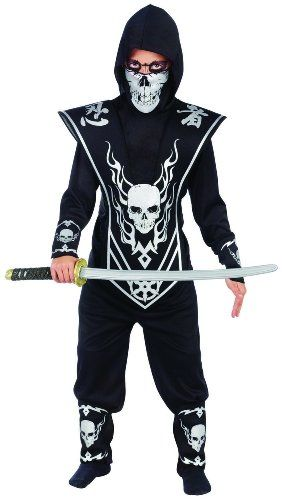 Skull Lord Ninja Child Halloween Costume 2014 - You'll be a crusader for the skeletons when you wear this Kids Skull Ninja Costume. Everyone needs a champion for their cause, even ghouls from beyond the grave. Suit up and show those bad demons who's boss.