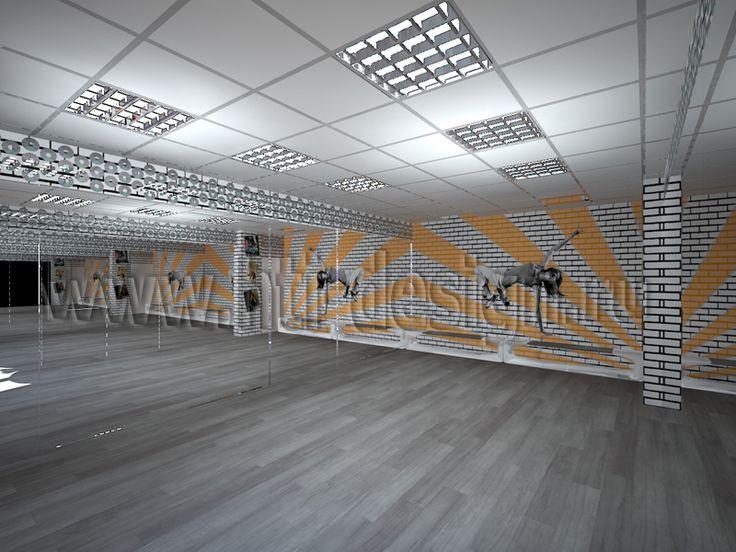 Dance studio interior design