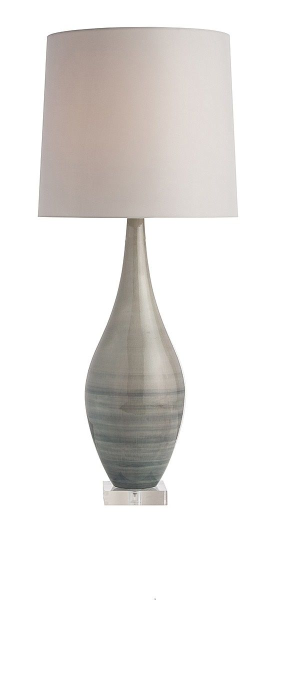 Instyledecor Gray Table Lamps, Modern Gray Table Lamps, Contemporary  Gray
