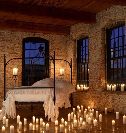 Exposed Brick Bedroom Design Sensual Bedroom Paint Colors Master Bedroom Accent Wall Bedroom Curtains Harry Corry: Candlelight Bedroom