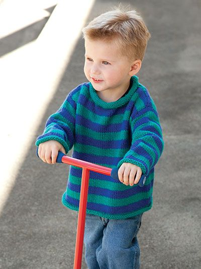 Knitting - Patterns for Children & Babies - Sweater Patterns - Saucy Stripes Pullover