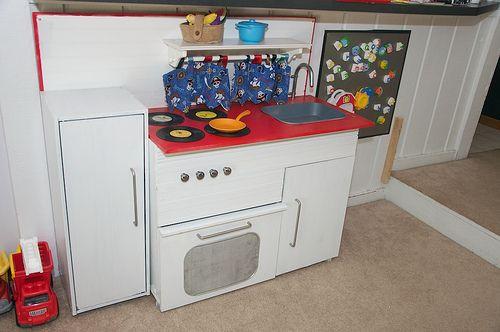 DIY Boyish Play Kitchen
