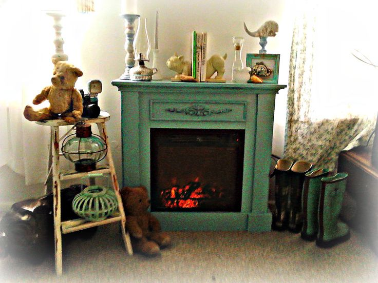 How to paint a laminate electric fireplace