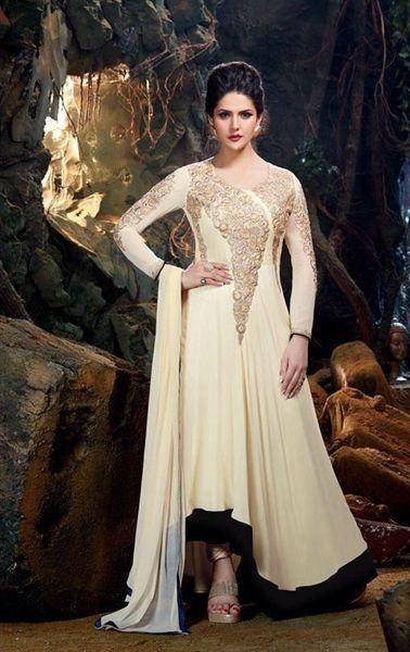Aesthetic Cream Designer Bollywood Suit