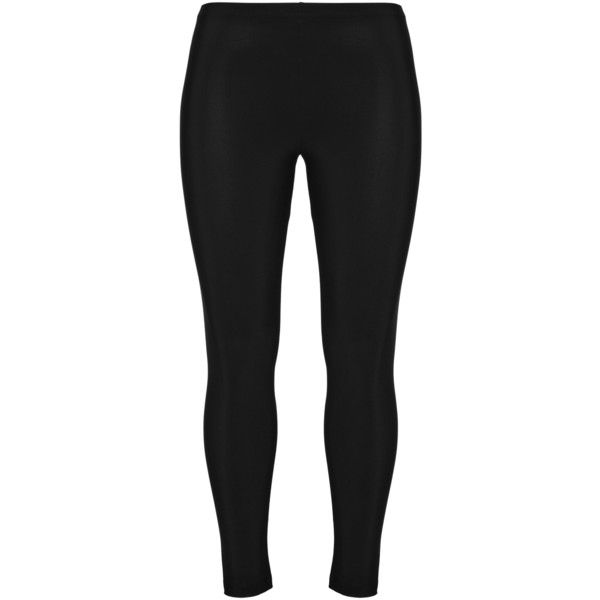 Elemente Clemente Black Plus Size Leggings (5,315 INR) ❤ liked on Polyvore featuring pants, leggings, black, plus size, plus size trousers, legging pants, elastic waistband pants, womens plus pants and elastic waist pants