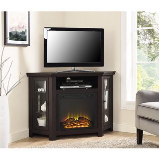 Shop for 48-inch Espresso Corner Fireplace TV Stand. Get free delivery at Overstock.com - Your Online Home Decor Outlet Store! Get 5% in rewards with Club O!